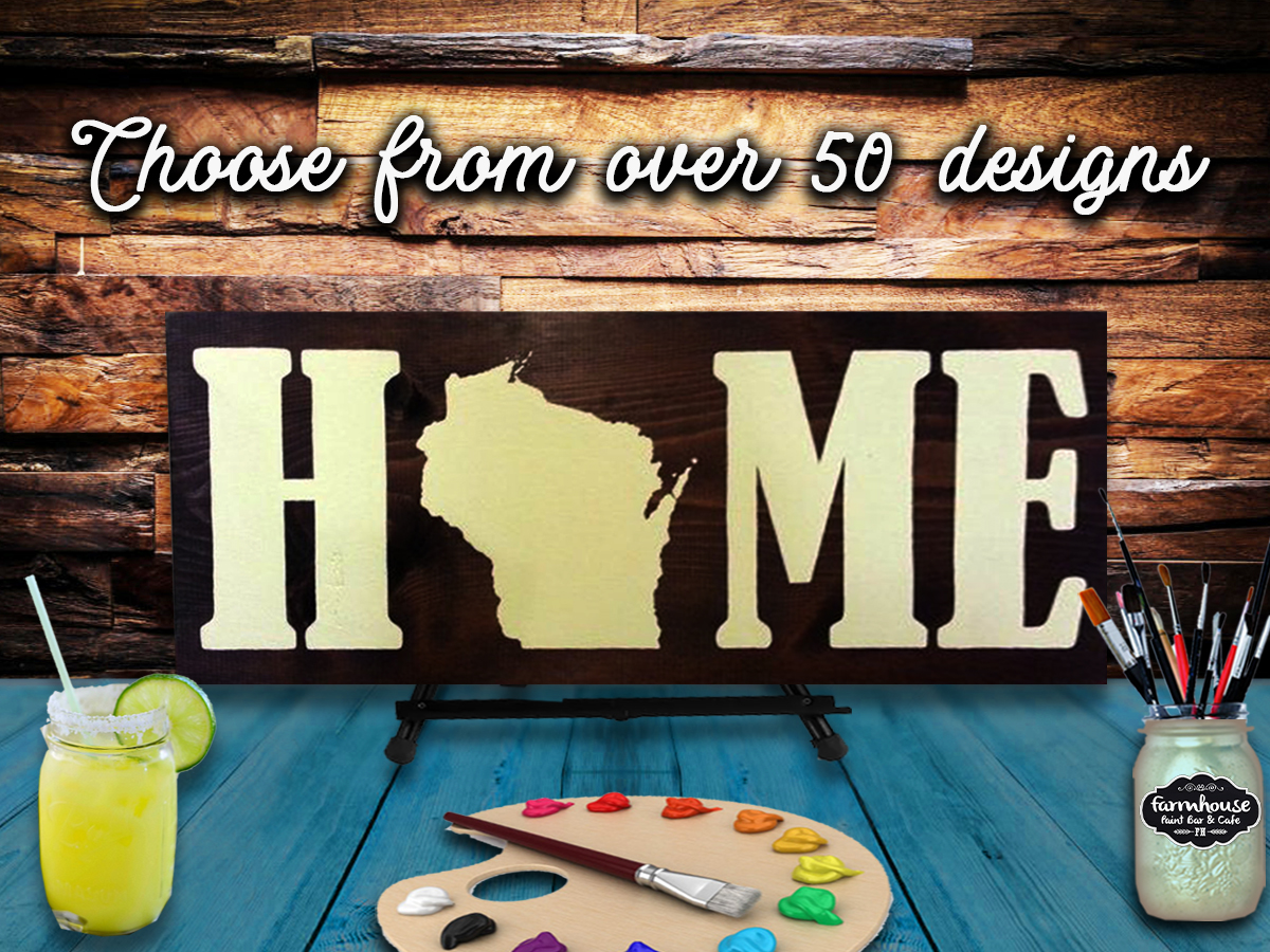 Paint & Sip Milwaukee - Wood Sign Making - Choose Any Design