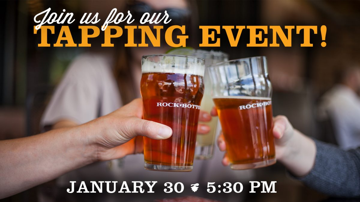 January Tapping Event at Rock Bottom
