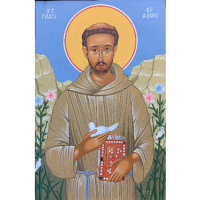 Painting/Praying with the Icon of St. Francis of Assisi