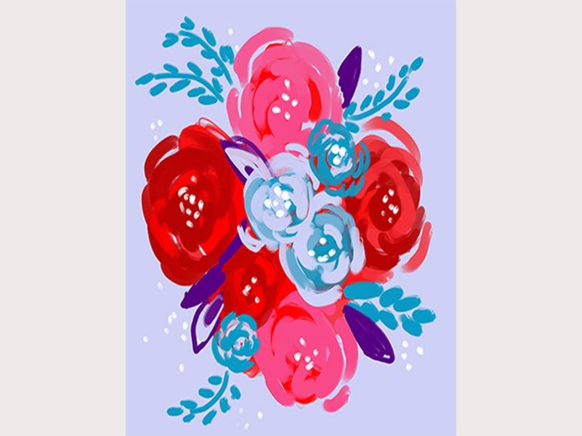 Mother's Day Bouquet-LIVE Virtual Paint Class-Step by Step Class