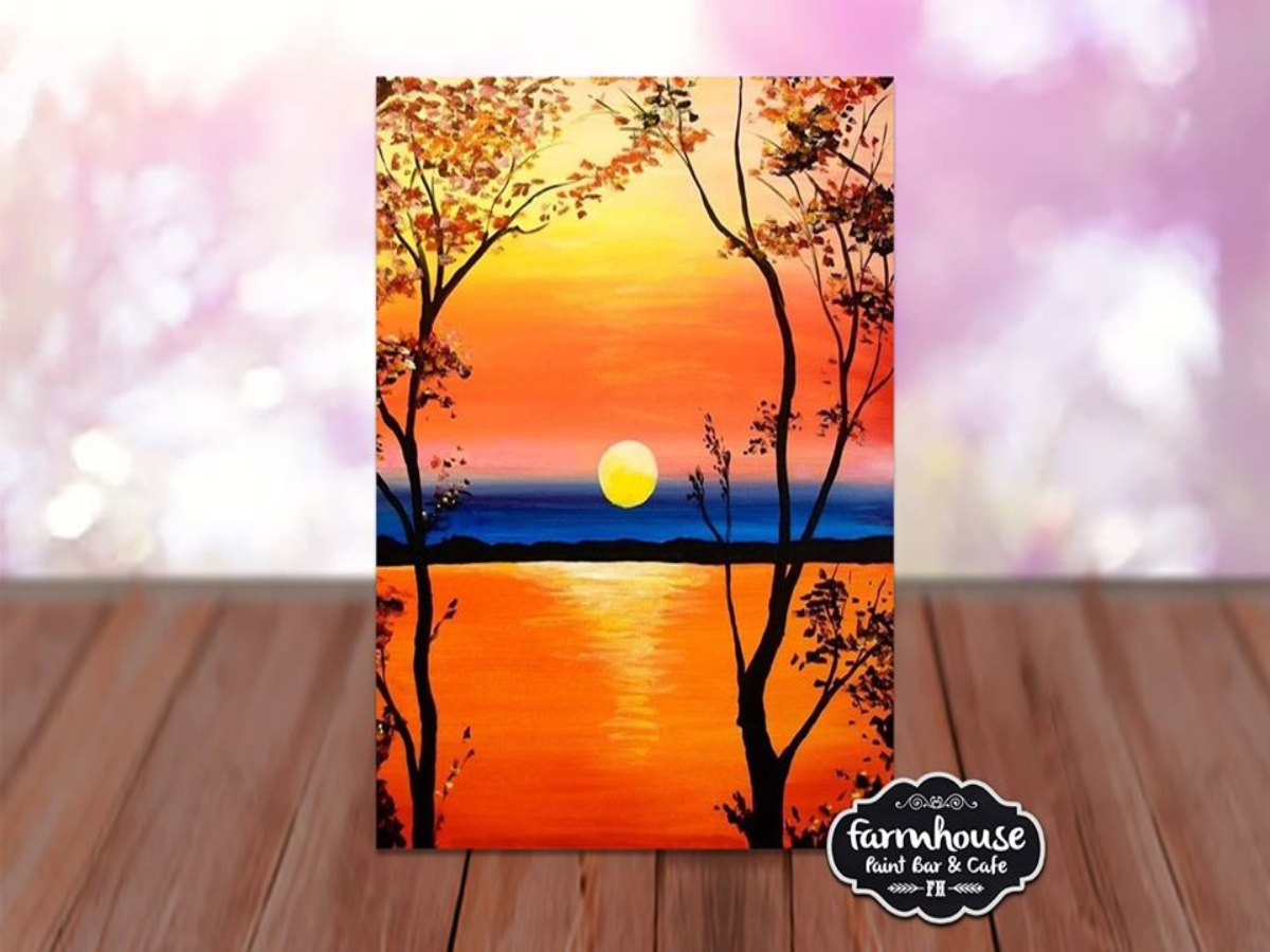 Lake Sunrise - LIVE Virtual Step by Step Class