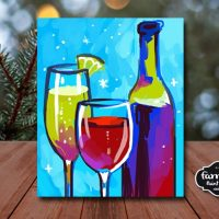 Wine Lover - LIVE Virtual Paint and Sip - Step by ...
