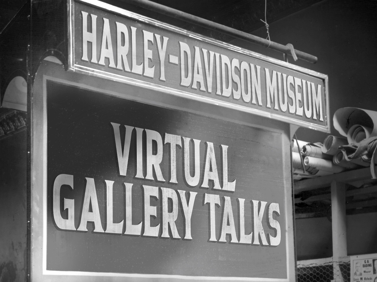 Virtual Gallery Talks LIVE from the Harley-Davidso...