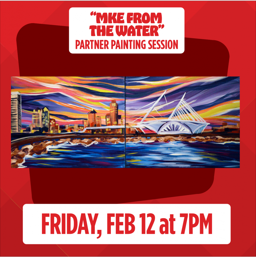 """Virtual Valentine's Live Painting Session: Friday, Feb. 12, 7pm """"Milwaukee From The Water"""""""