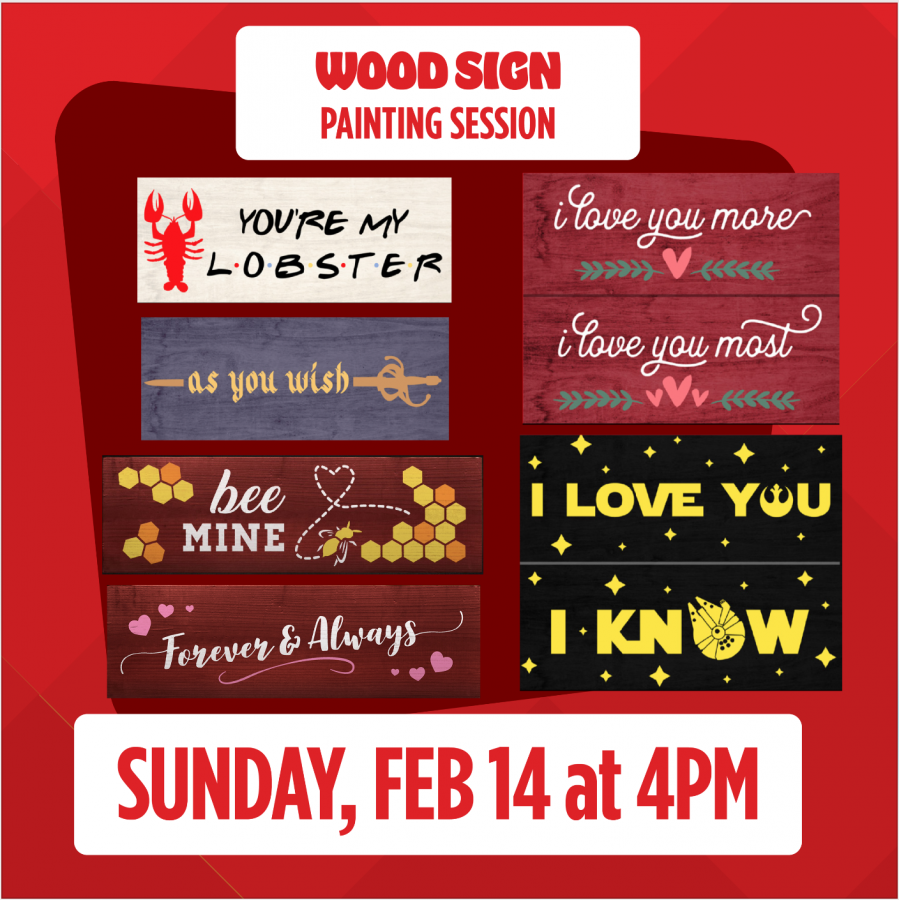 Virtual Valentine's Live Wood Sign Session: Sunday, Feb 14, 4:00pm