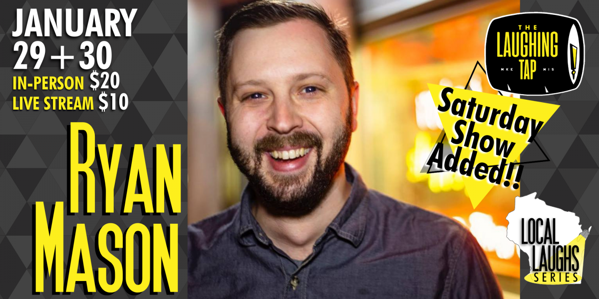 Ryan Mason At The Laughing Tap: In-Person And Livestream A Benefit For Giving Fest!!!!