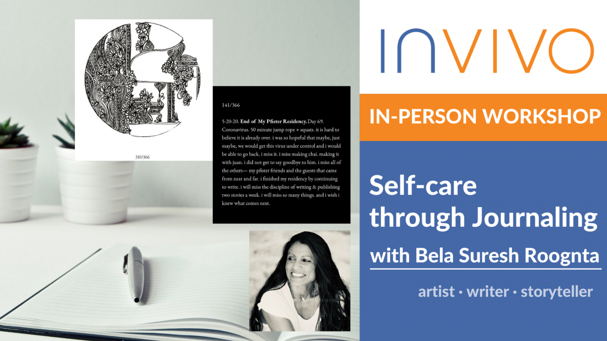 In-Person WORKSHOP: Self-care through Journaling with Bela Suresh Roongta