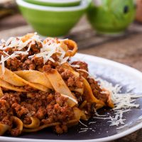 An evening in Rome: Bolognese Sauce and Fresh Fettuccine