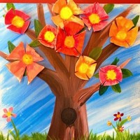 We Paint; Every Day is Earth Day (Adult and Child Painting)