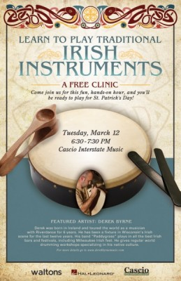 Learn to Play Traditional Irish Instruments at Cascio Interstate Music SuperStore
