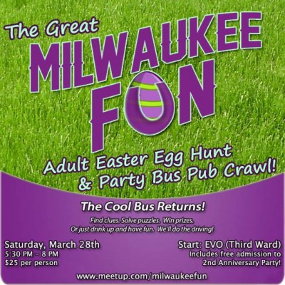 Milwaukee Funs Adult Easter Egg Hunt And Party Bus Ride